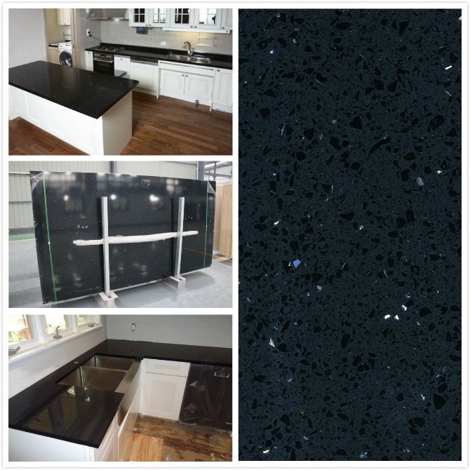 Countertop Factory: Buy Sparkle Black Quartz PS1805,Best Sparkle Black ...