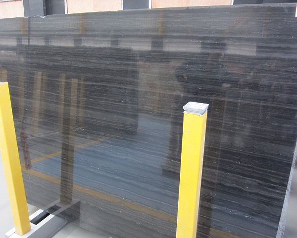 Countertop Factory: Buy Natural Black Wooden Marble Slab To Wall Decor ...