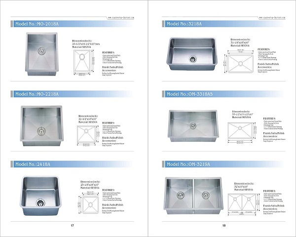 18 gauge stainless steel sink manufacturer prices