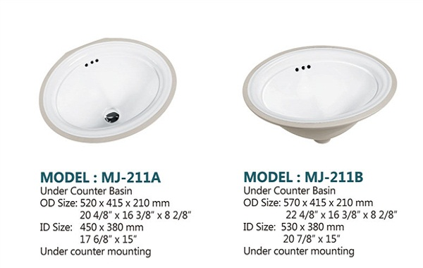Perfect stone new oval ceramic undermount kitchen sink prices