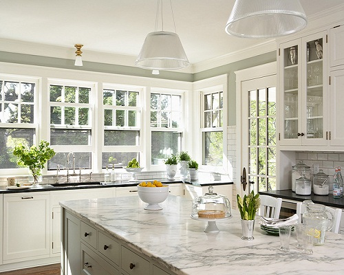 2017 New White Calacatta Marble For Kitchen Counter Prices