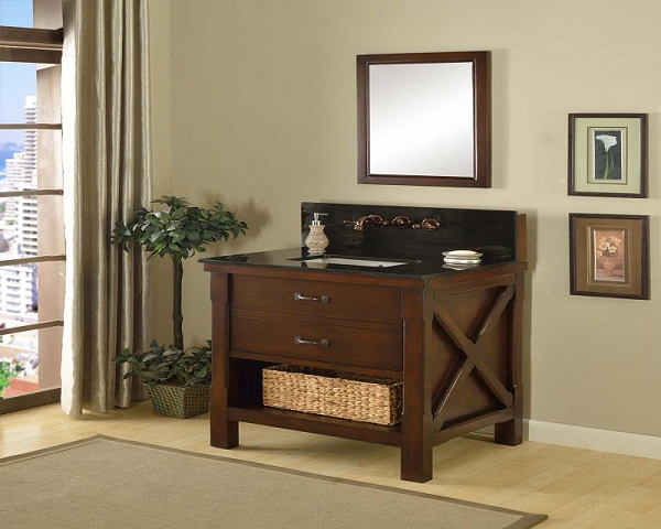 China modern single wooden vanity sink cabinet prices
