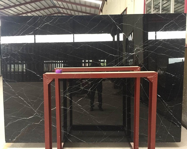 Cheap nero marquina slab flooring designs for sales