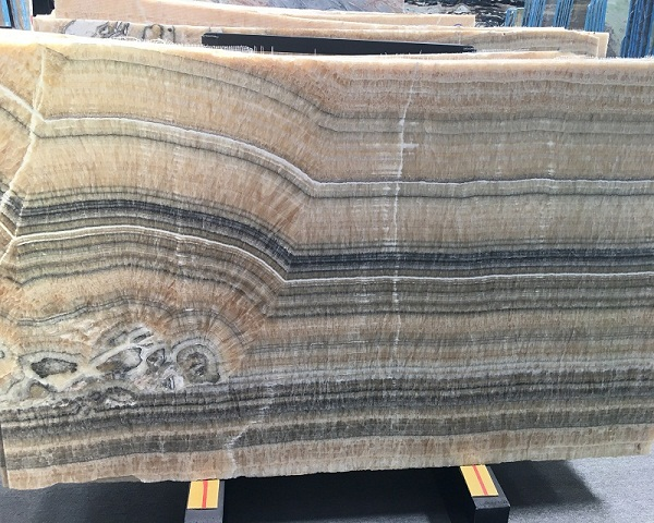 Onyx bamboo marble polished slabs for onyxtop