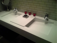 Crystal White Quartz Vanity Tops