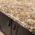 Quartz  Brown Color Kicthen Countertop