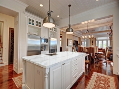 China White Quartz Kitchen Countertops