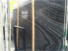 Wooden Black Marble Slabs