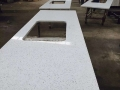 Solid white quartz kitchen countertops price