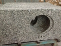Grey granite 623 with black spots prefab countertops to sale