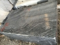 Zebra black antique wooden marble to wall & countertop
