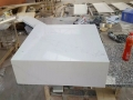 White calcatta gold marble 48 bathroom vanity price