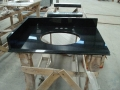 China black 48 granite vanity top for hot sale