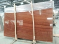 2017 China red wood grain marble slab for floor