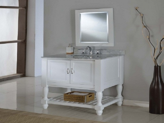 Beautiful White Vanity Cabinet For Bathroom ...