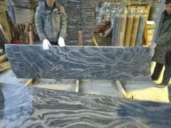 black granite with white veins