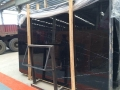 China marquina black marble polished+honed slabs prices