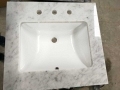 Carrara 36 bathroom marble vanity with ceramic sink
