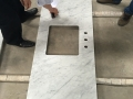 China carrara marble polish kitchen top with eased edges