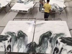natural panda white marble slabs