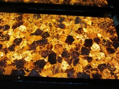 yellow semiprecious stone slab