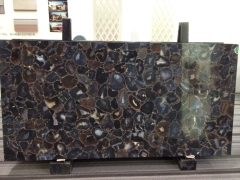 Brazil brown semiprecious stone slab