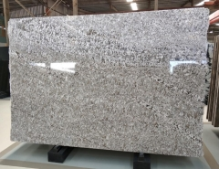 High polished Aran white flower big granite slabs